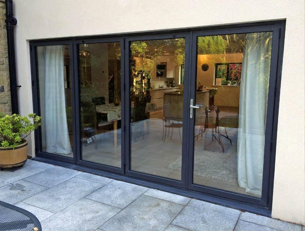Bi-fold patio doors installed in Ilkley, West Yorkshire.