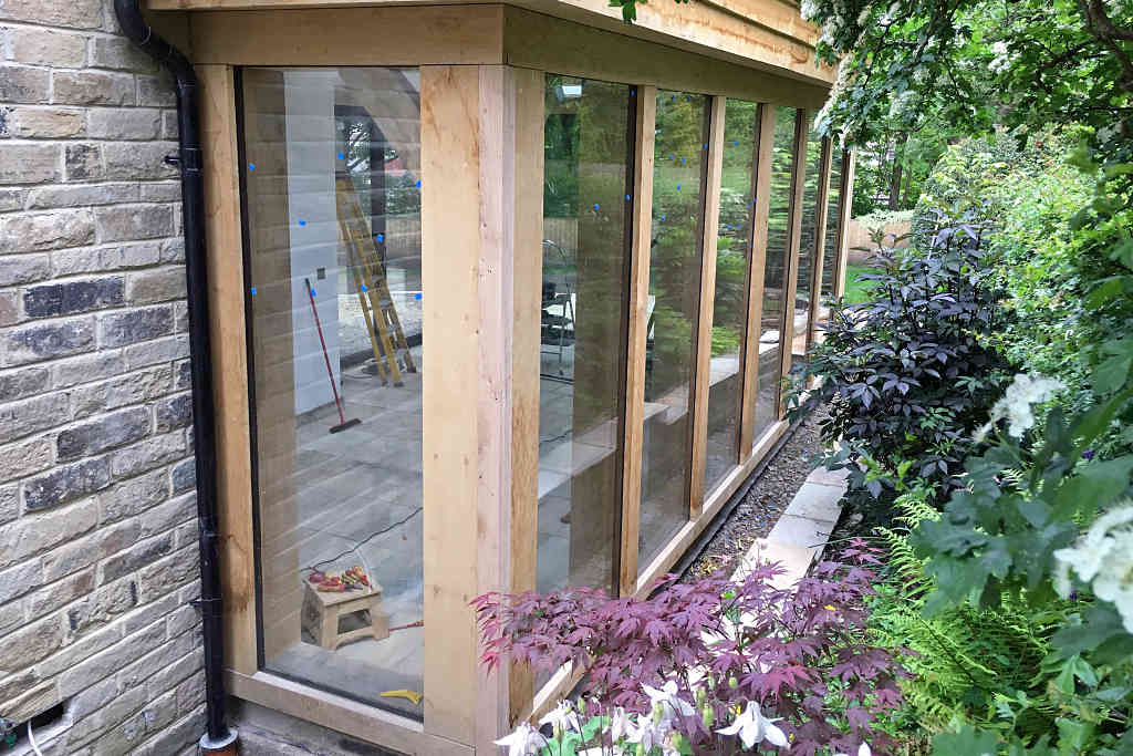 Reynaers CF77 Bi Fold doors installed at Baildon in West Yorkshire - side view 2