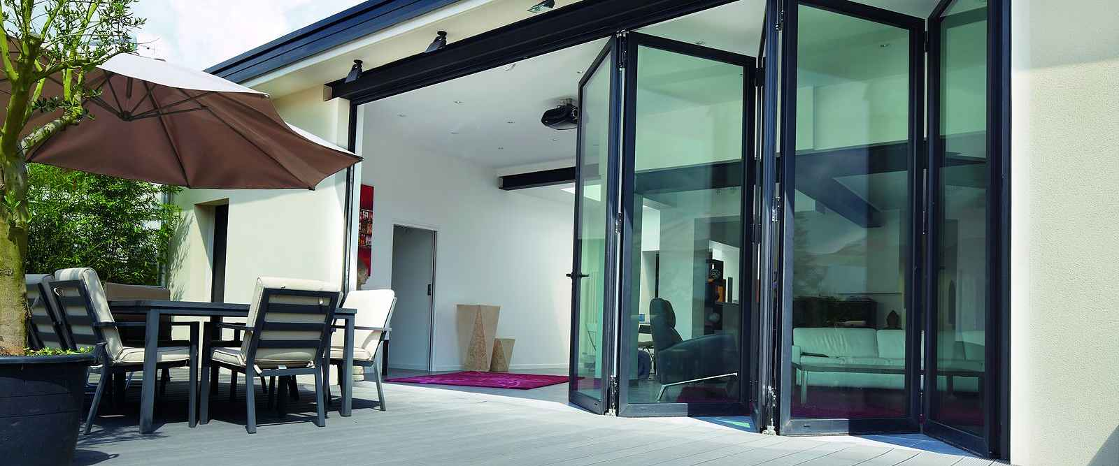 Low Flush Threshold Aluminium Sliding Doors Marlin Windows Yorkshire