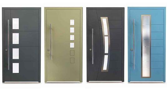 Modern Exterior Door With Multi Point Locks 4 Door Lites: Marlin Windows Keighley Yorkshire