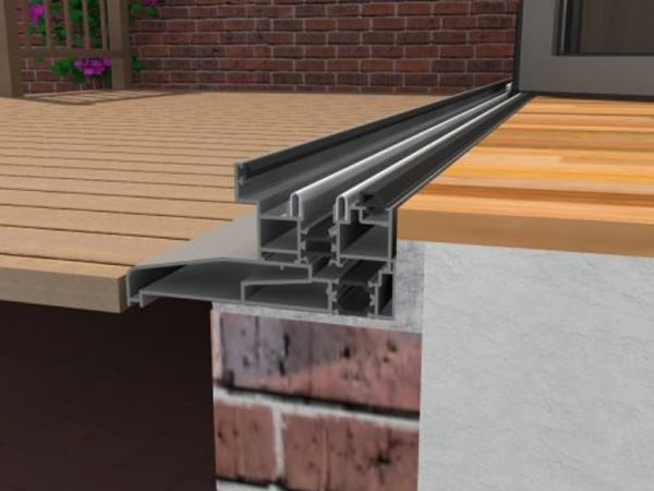 Looking Out On An Open In Sliding Door Low Threshold With Cill