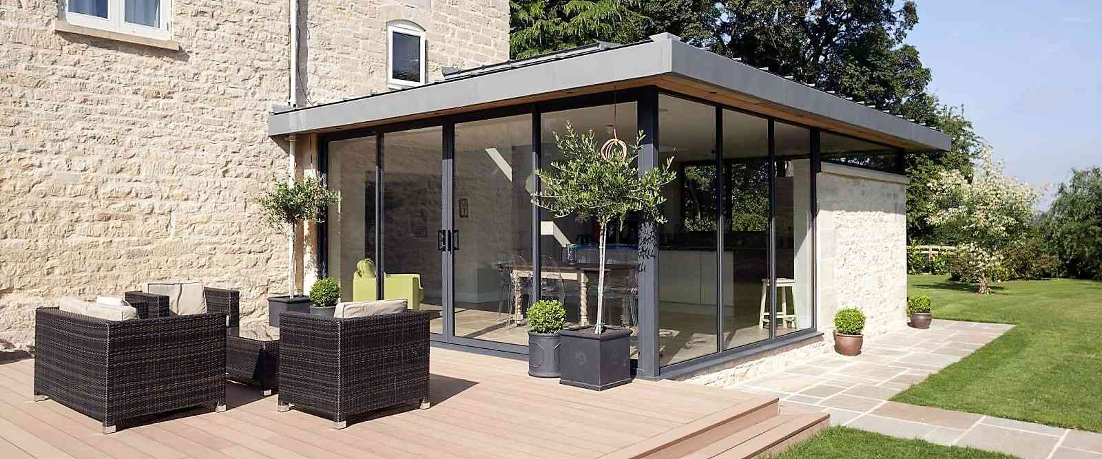 Maximise light and get stunning unimpeded views with these dynamic residential sliding patio doors. & Aluminium Sliding Patio Doors | Marlin Windows Yorkshire