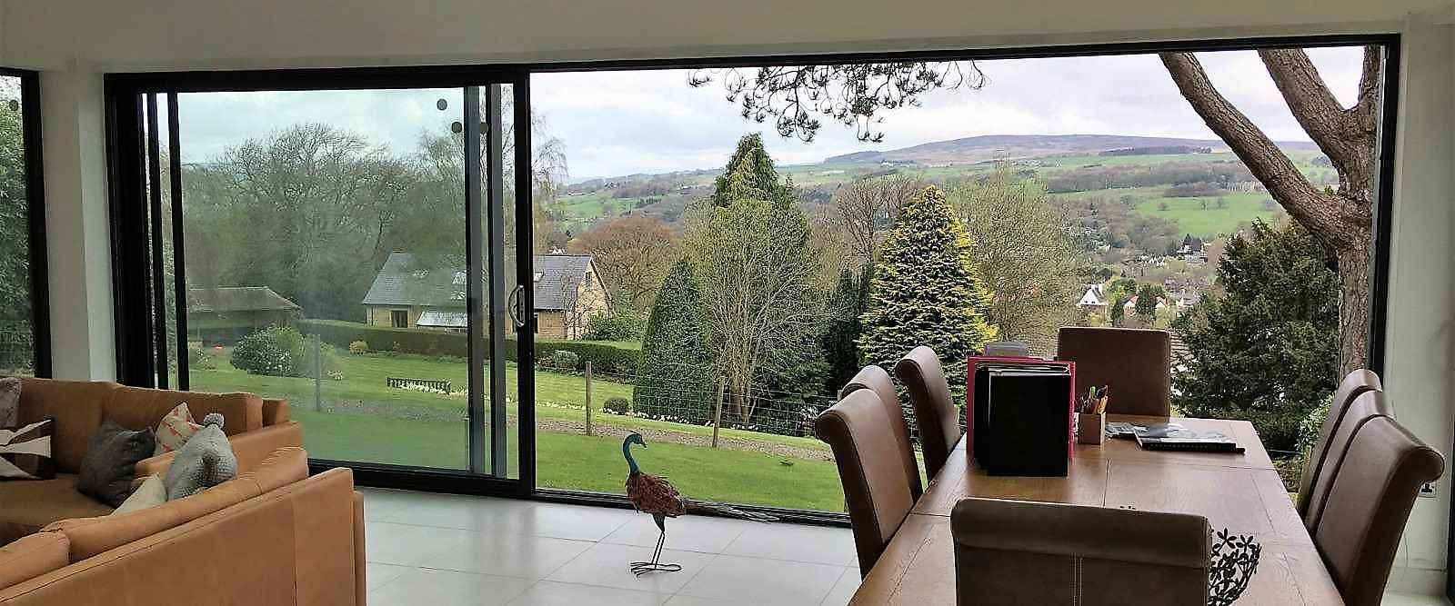 Contemporary Sliding patio doors installed in Ilkley Yorkshire