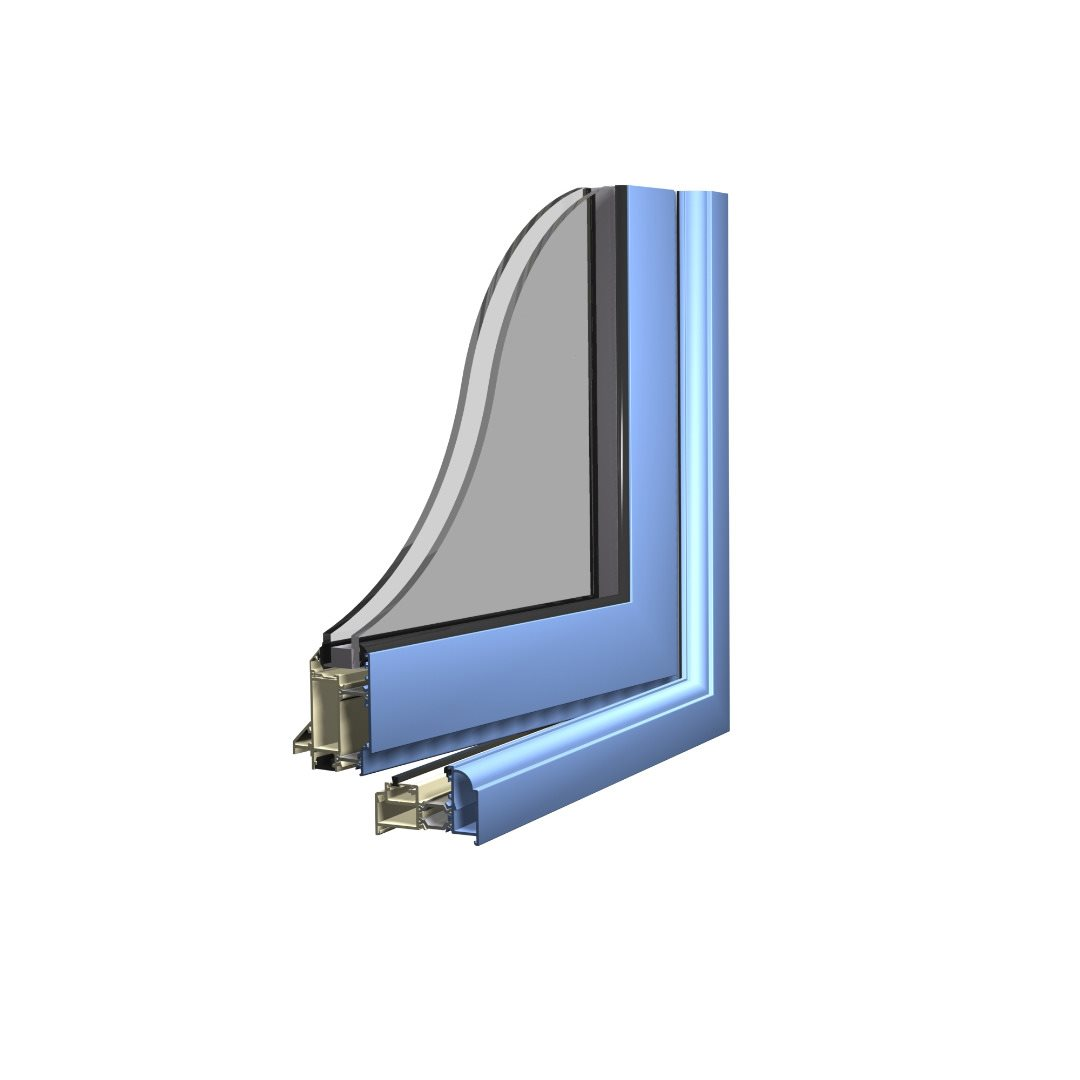 Alitherm steel replacement door profile