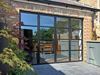Steel Replacement Aluminium French Doors on property in York