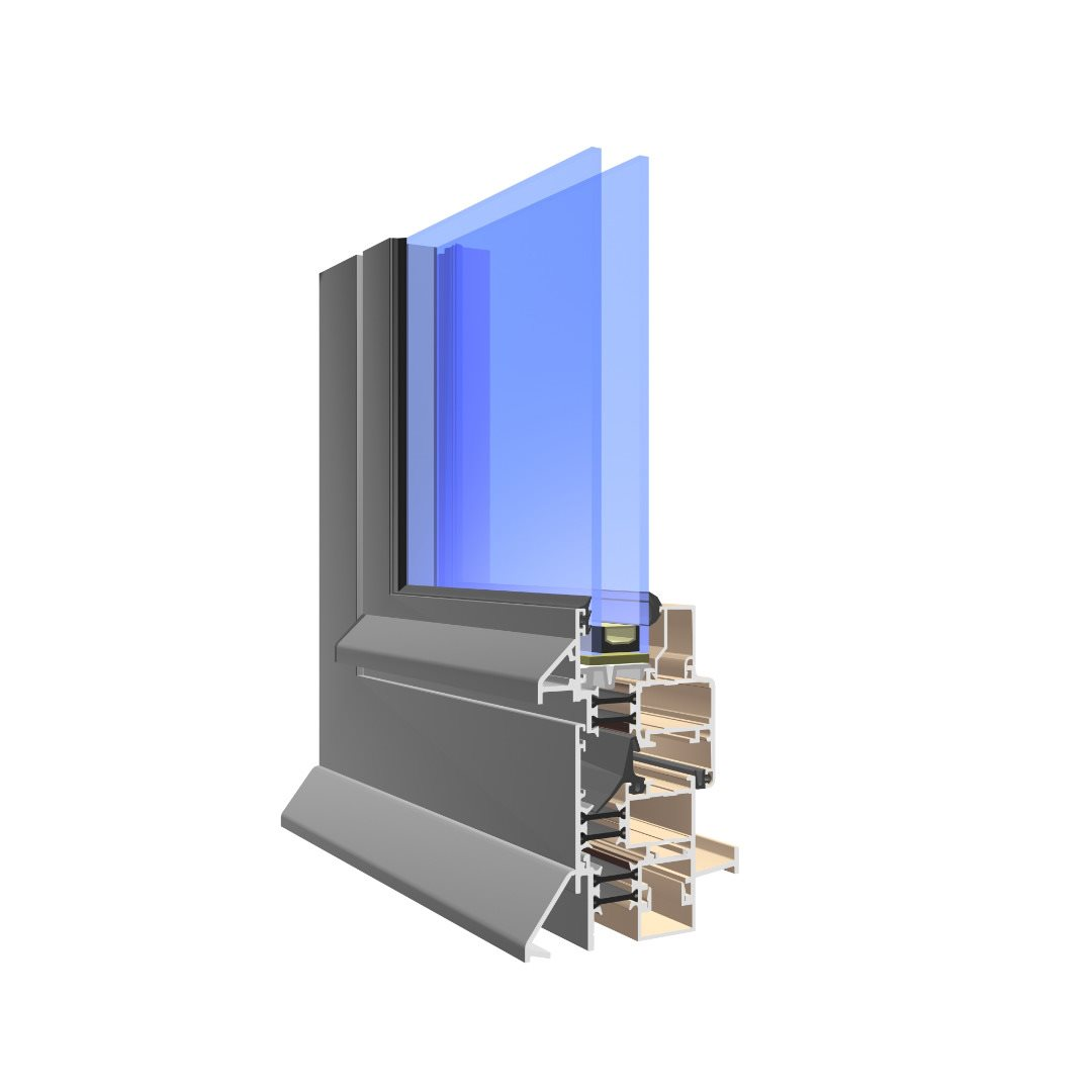 profile of Visoline Commercial aluminium window