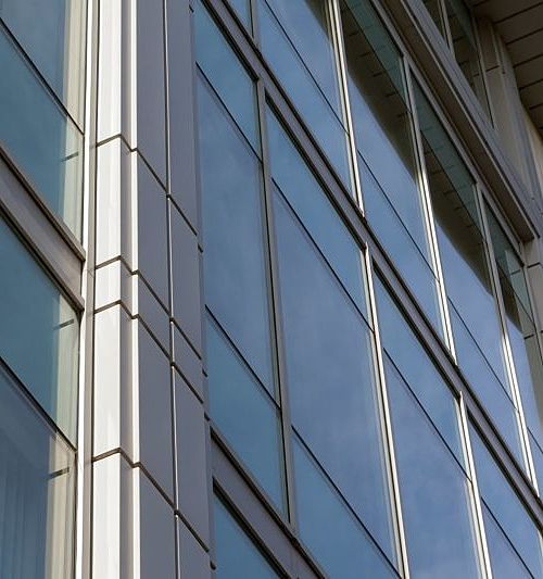 Example of MC 600 floor to ceiling Commercial Aluminium Windows