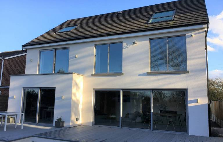 visoglide plus sliding patio doors at energy efficient eco friendly SIPS house in Yorkshire