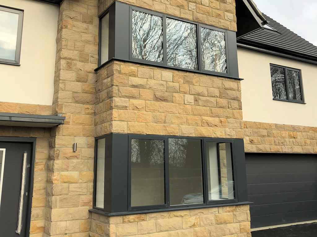 Alitherm 800 windows and Eco Futural windows installed at new build properties in Leeds