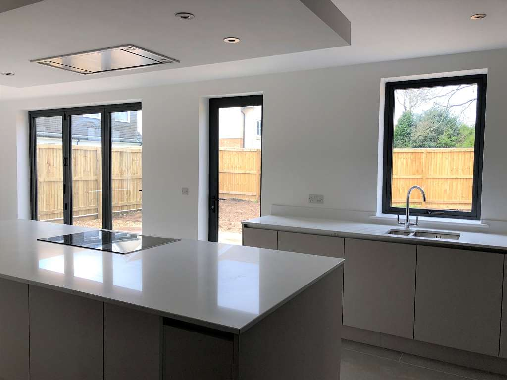 Alitherm 800 windows and Eco Futural windows and residential doors installed in one of three properties in Leeds