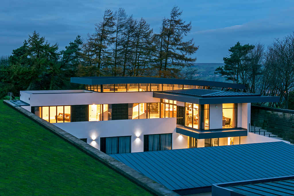 a truly unique high specification contemporary private residence near Ilkley, West Yorkshire.
