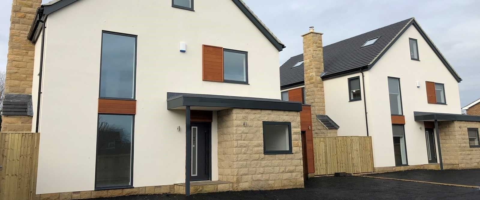 Contemporary tilt turn aluminium windows at shadwell near leeds