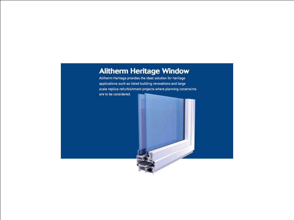 The Alitherm Heritage Window is ideal for listed building renovation projects