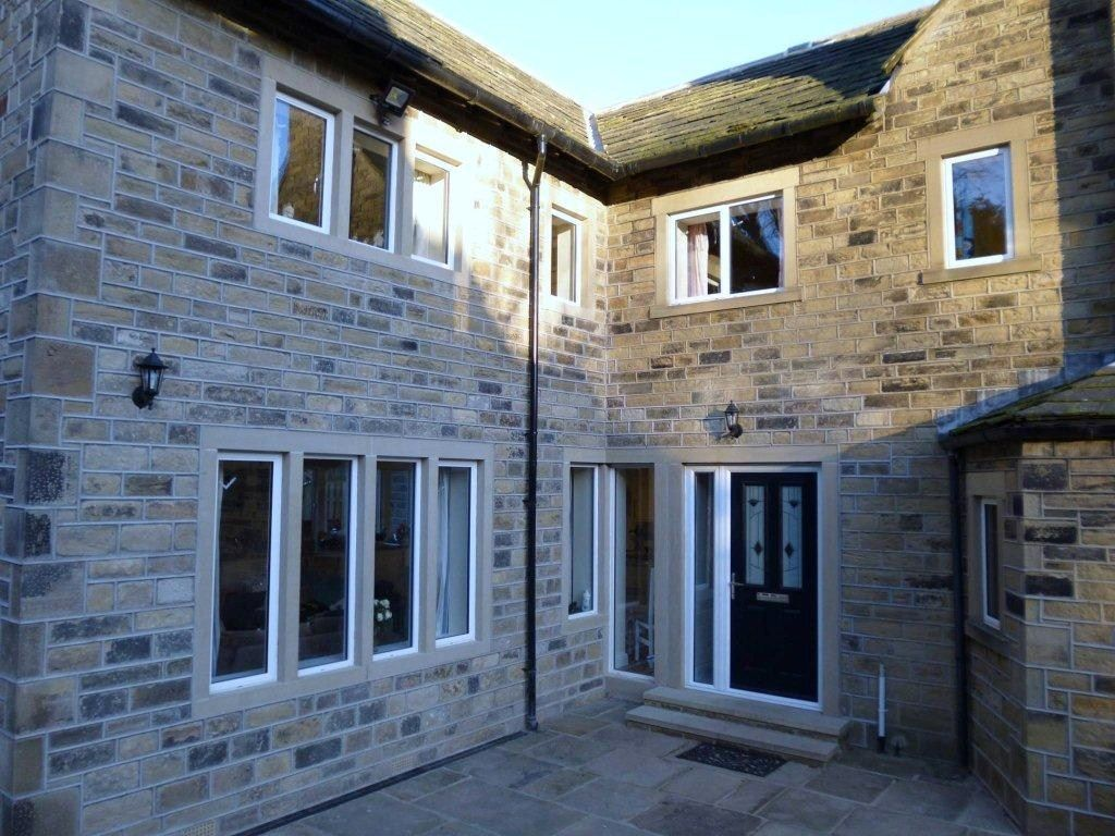 The Heritage Alitherm aluminium windows installed in house extension in Huddersfield