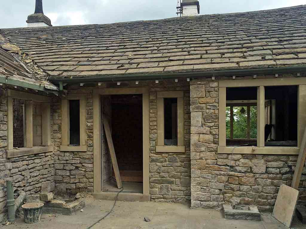 Beginning renovation of the grade II listed old school house in Skipton