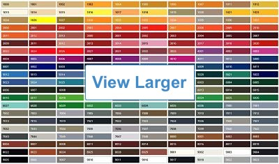 RAL Colour chart - click for larger size