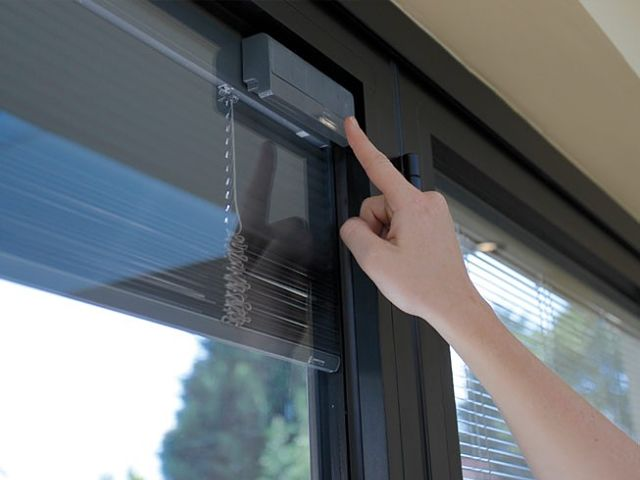 built in integral blinds sliding bi