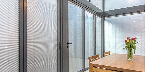 Built In Integral Blinds Sliding Patio Doors Marlin Windows Yorkshire